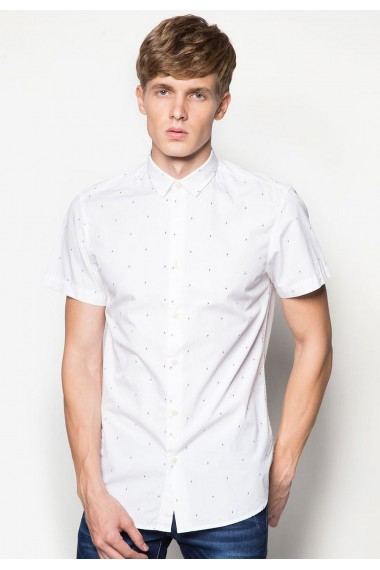 Pánska  košeľa Jack & Jones /  JJCODEAN SHIRT WHITE 12106066