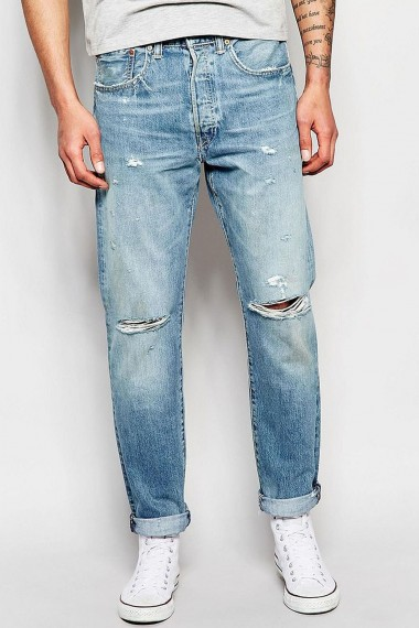 Pánske rifle Levi's® 501® CUSTOMIZED TAPERED DIRTY DAWN 181730043