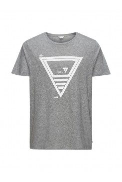 Pánske tričko Jack & Jones / jjcoFAT TEE SS Light Grey 12102102