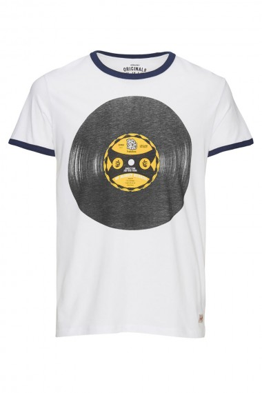 Pánske tričko Jack & Jones / JJORRETRO TEE cloud dancer 12102489