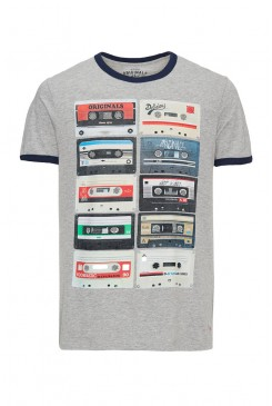 Pánske tričko Jack & Jones / JJORRETRO TEE Light Grey 12102489