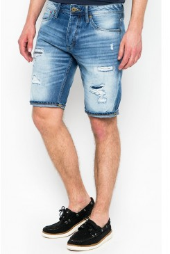Riflové kraťasy Jack & Jones / ORIGINAL RICK SHORT 12103207 BLUE