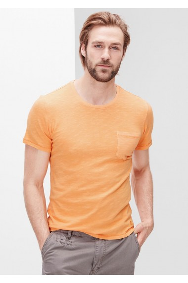 Pánske tričko s.OLIVER / Slim-fitting top with a breast pocket  13.605.32.4486 2240