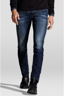 Pánske rifle Jack & Jones / GLEEN Jeans Inteligence INDIGO KNIT 12111058