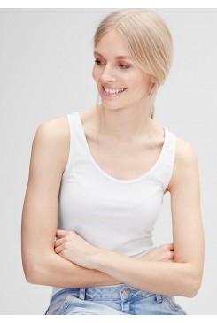 Dámsky top s.OLIVER / Longline top in stretch cotton 45.899.34.0310 0100