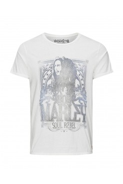Pánske tričko Jack & Jones / BOB MARLEY Cloud Dancer 12107305