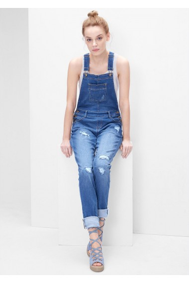 Rifle na traky s.OLIVER / Vintage dungarees with distressed details 14.604.71.2312 55Z3