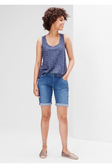Dámske krátke rifle s.OLIVER / Smart Short: Stretch denim Bermudas 14.606.72.2878 55Z7