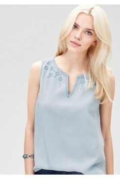Dámska tunika s.OLIVER / Embroidered denim blouse top 14.605.13.3011 52Y1