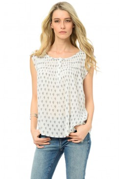 Dámska blúzka  MAVI 121038-20814 PRINTED BLOUSE antique white prin