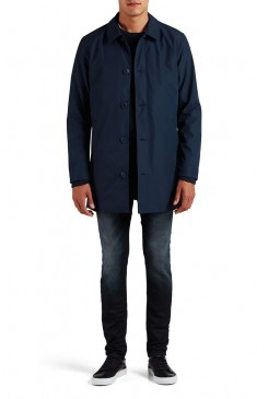 Pánsky kabát Jack & Jones / CLEAN-CUT TRENCHCOAT Navy Blazer 12111382