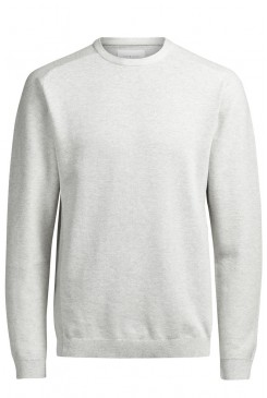 Pánsky pulóver Jack & Jones / CLIF KNIT Treated White 12109700