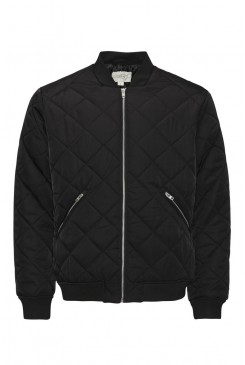 Pánsky bomber Jack & Jones / DIAMOND BOMBER Black 12113350