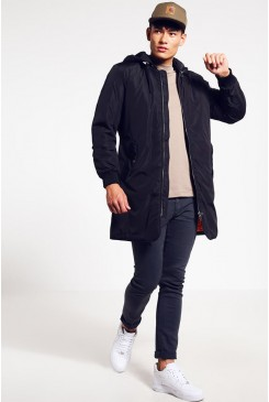 Pánska bunda Jack & Jones / JORSEVEN LONG JACKET Navy Blazer 12109437