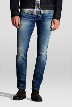 Pánske rifle Jack & Jones / TIM SLIM FIT Blue Denim 12111096
