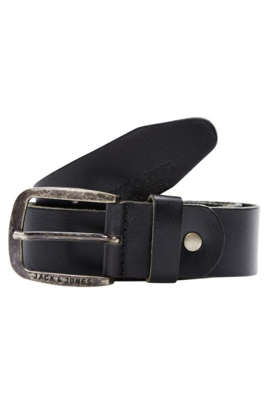 Kožený opasok Jack & Jones / PAUL LEATHER BELT Black 12111286