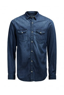 Pánska košeľa Jack & Jones / RONE SHIRT Dark blue 12112275