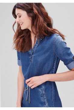 Dámske riflové šaty s.OLIVER / Shirt blouse dress in a denim look 14.604.82.4921 55Z7