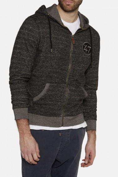 Pánska mikina WRANGLER / ZIP THROUGH HOODIE DARK GREY W6511AB06