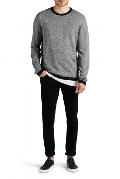 Pánsky pulóver Jack & Jones / CORE COMIX KNIT CREW 12109684 black