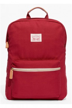 Batoh LEVI´S / Canvas Zip Top Backpack brilliant red 771700635